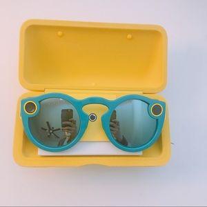 Teal Snapchat Glasses
